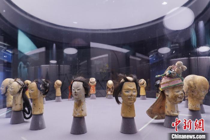 """""""木偶之父""""江加走的木偶头。 上海木偶剧团 供图 摄"""